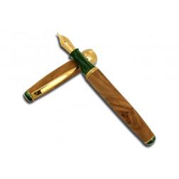 """Penna Stilografica """"Essenza di Ulivo"""" in legno italiano"""