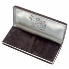 Penna Stilografica Legno Fossile e Argento confezione